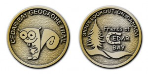 Visit all 13 Cedar Bay geocaches to earn your limited edition coin